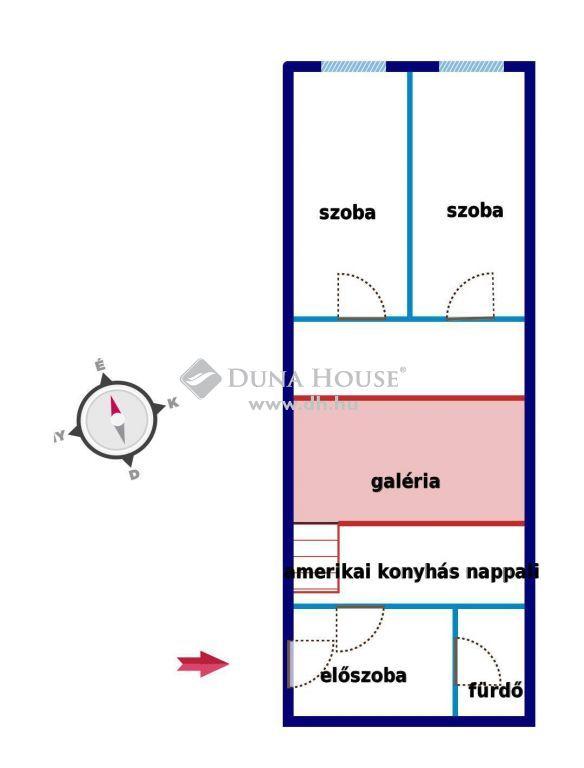 Eladó Lakás, Budapest - Dagály sétány közelében 3 szobás emeleti lakás