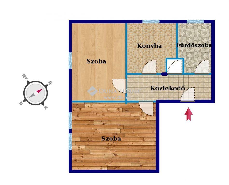 Eladó Lakás, Budapest - Félkész állapotú ingatlan a Mediterrán lakóparkkal szemben